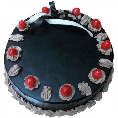 Chocolate Truffle Cake With Cherry - The Cake King