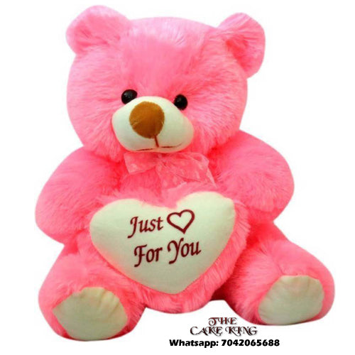 Cute Teddy Bear Pink Color - The Cake King