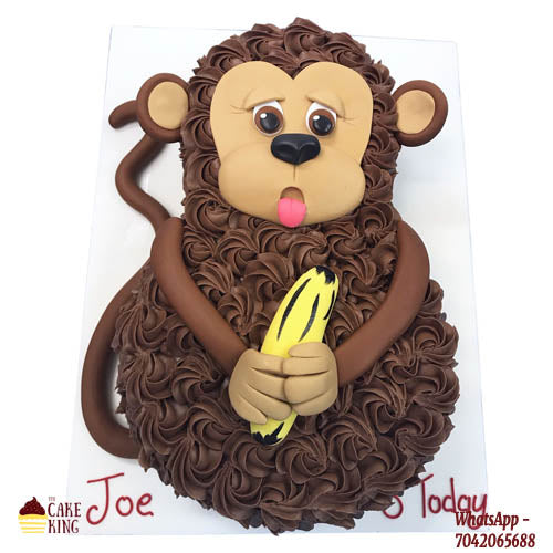 Monkey Face Cartoon Cake