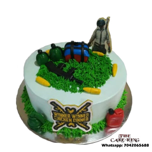 Awesome Pubg Theme Cake Online Delivery In Delhi Noida And Ghaziabad Funny Birthday Cards Online Alyptdamsfinfo