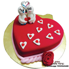 Love Red Heart Anniversary Cake - The Cake King