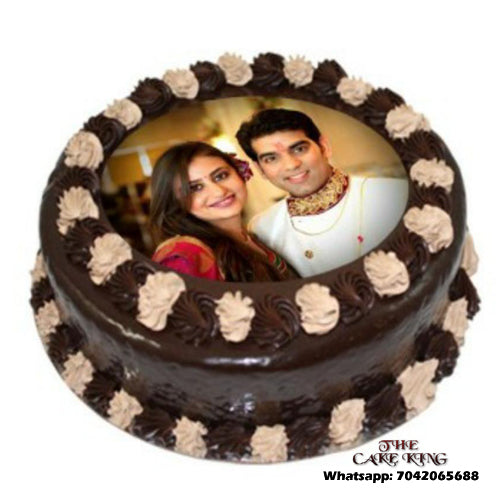 Anniversary Cake With Photo