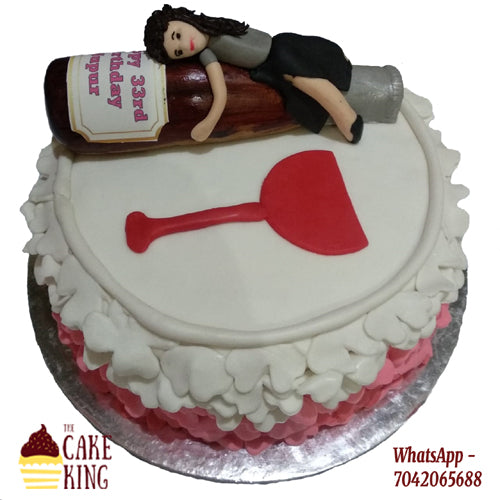 Bachelor Party Cake For Girl - The Cake King