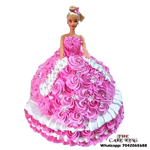 Pink Barbie Doll Cake - The Cake King