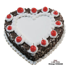Black Forest Heart Shape Cake - The Cake King