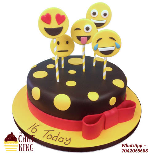 Customised Emojis Cake - The Cake King