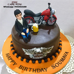 Harley Davidson Custom Cake - The Cake King