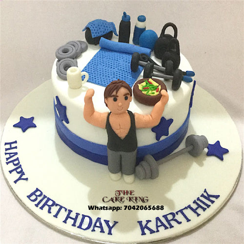 Health Gym Fondant Cake - The Cake King