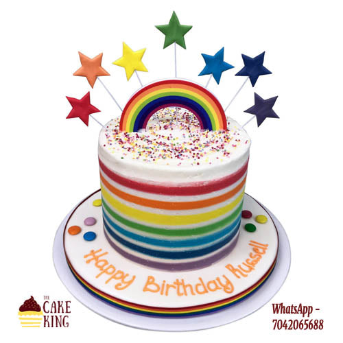 Rainbow Cake - The Cake King