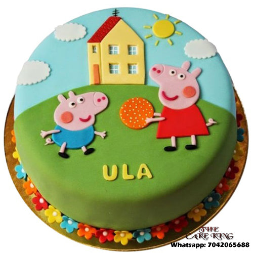 Peppa Pig Cake For 1st Birthday - The Cake King
