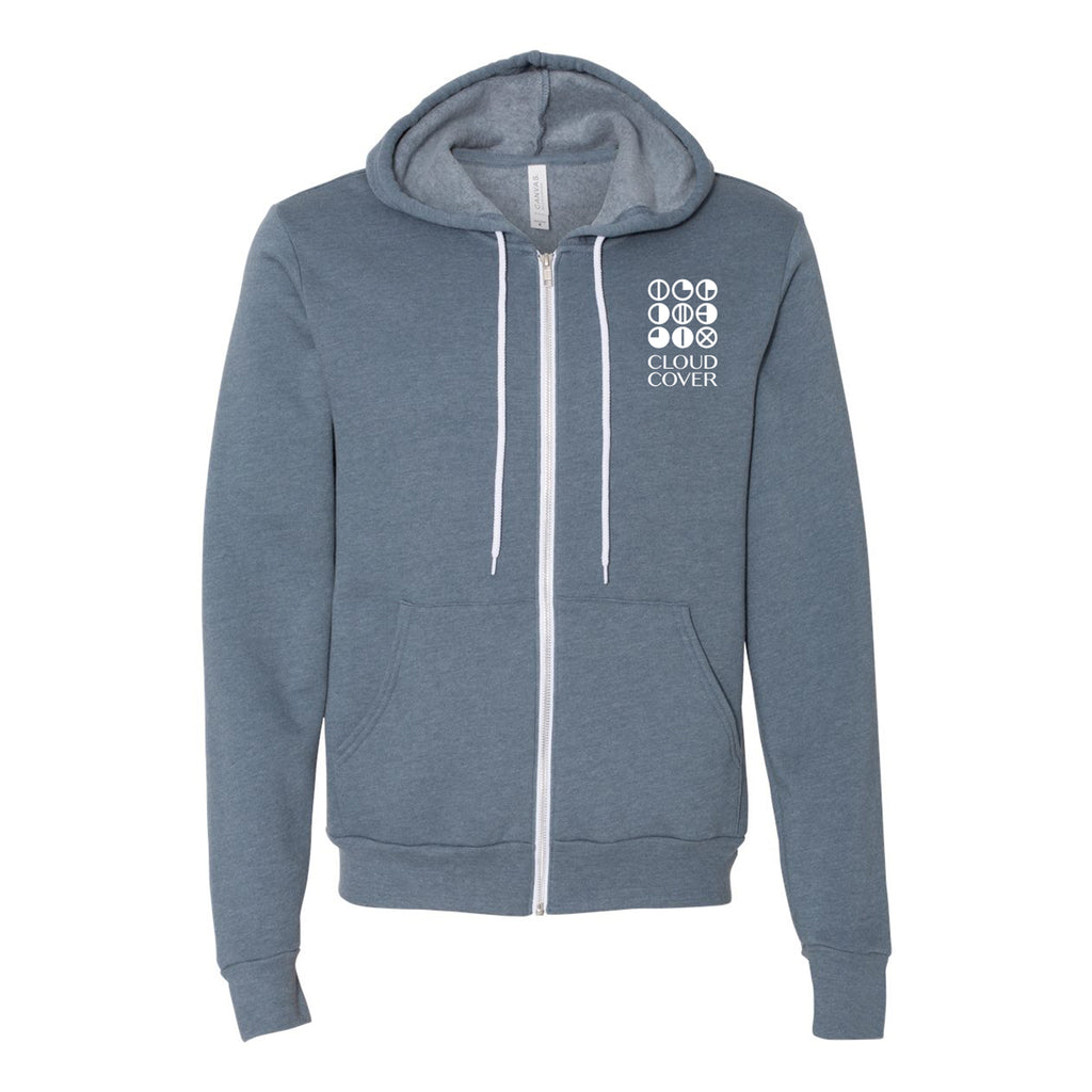 CLASSIC LOGO Zip-Up - Heather Slate