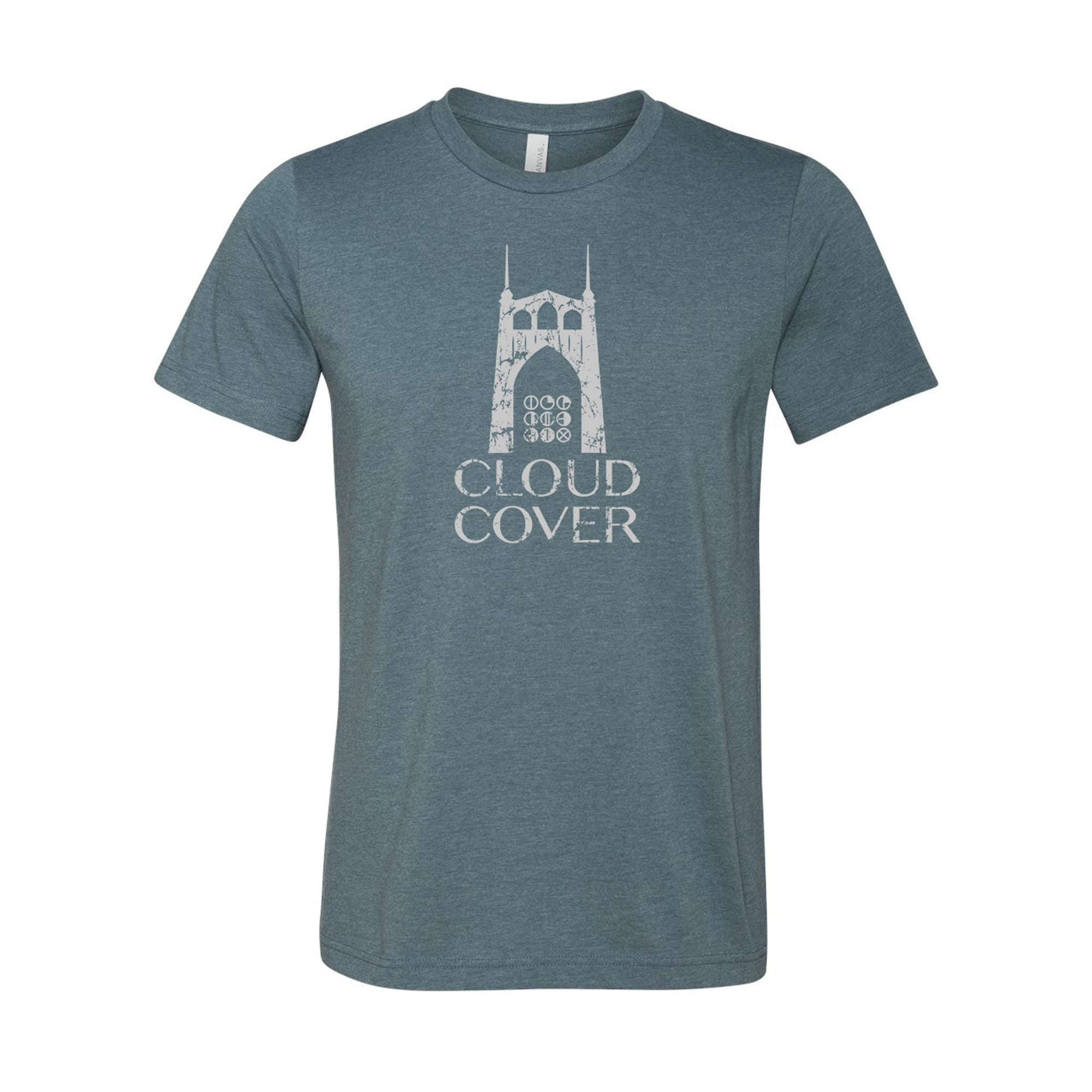 OREGON - ST JOHNS BRIDGE Tee - Heather Slate