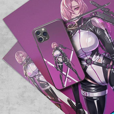 Cyber Ninja Girl LED Case for iPhone-Bazaardodo