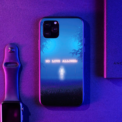 No Love Allowed LED Case for iPhone