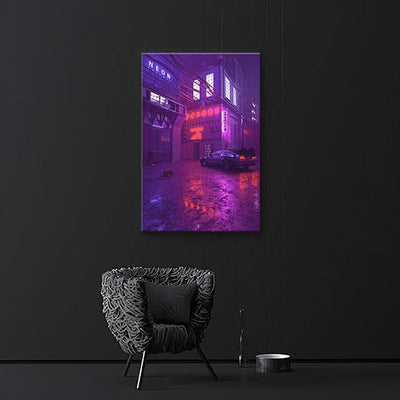 De lorean Canvas prints - BazaarDoDo