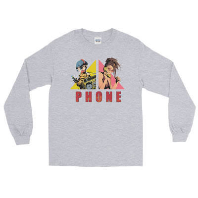 Stereo & Telephone Men's Fitted Long sleeve shirts