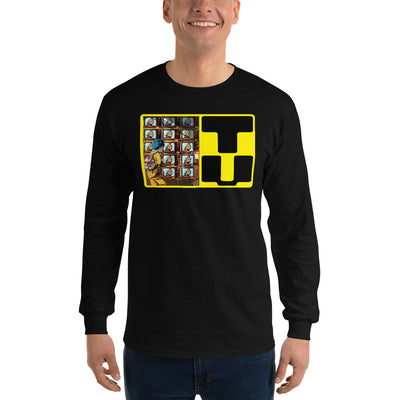 Telephone Men's Fitted Long sleeve shirts-Bazaardodo