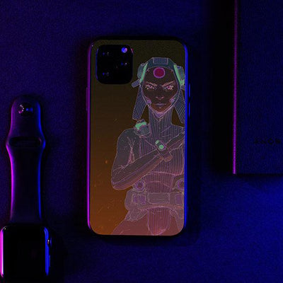 Morning Sketch 8 LED Case for iPhone-Bazaardodo