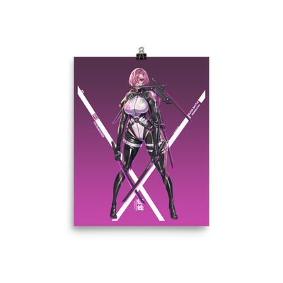 Cyber Ninja Girl Enhanced Matte Paper Posters
