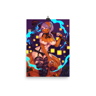 Pumpkin Girl Enhanced Matte Paper Posters