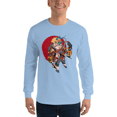 Blasting Boy Men's Fitted Long sleeve shirts-Bazaardodo