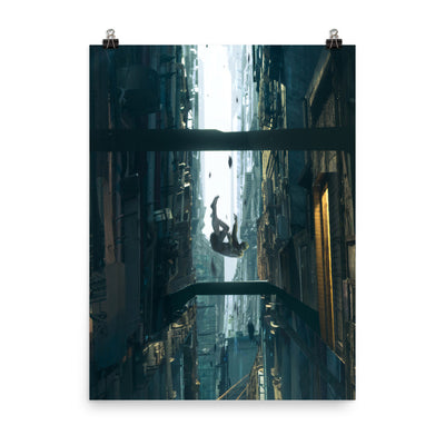 Falling Enhanced Matte Paper Posters