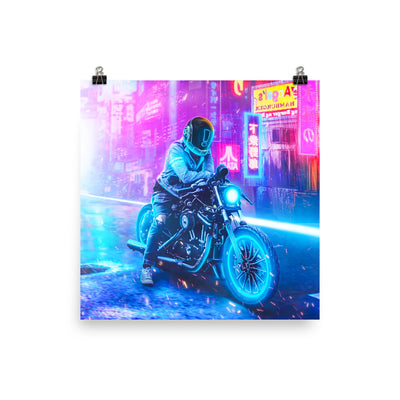 Night Rider Enhanced Matte Paper Posters