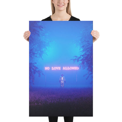 No Love Allowed Canvas prints - BazaarDoDo