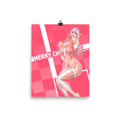 Pink Xmas Enhanced Matte Paper Posters