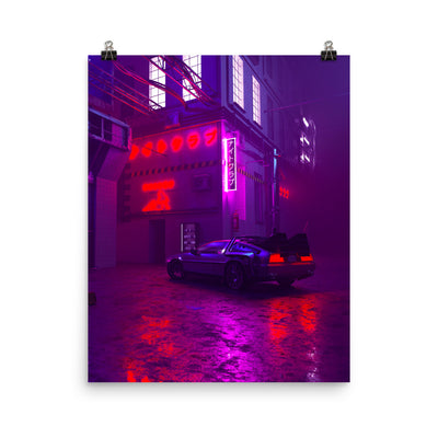 De lorean Enhanced Matte Paper Posters