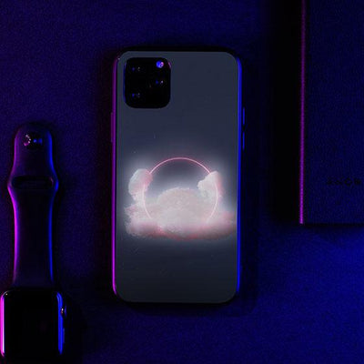 3 Rings LED Case for iPhone-Bazaardodo