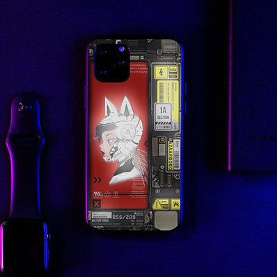 Helmet Cyberpunk Industrial LED Case for iPhone-Bazaardodo