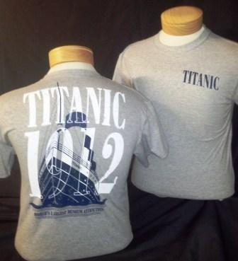 TITANIC BIG SHIP T SHIRT SIZE