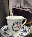 SECOND CLASS BLUE DELFT PATTERN CUP AND SAUCER