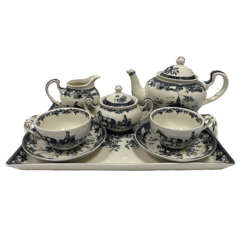 BLACK PORCELAIN TEA SET