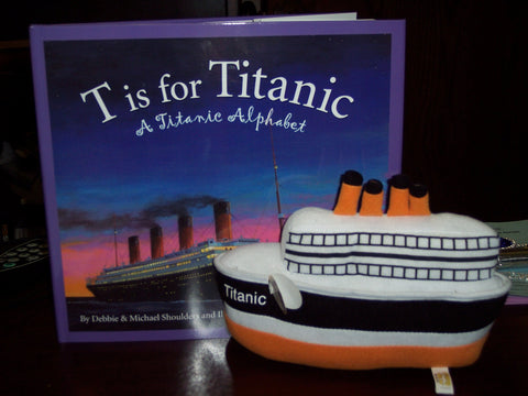 "PLUSH 6"" SHIP WITH T IS FOR TITANIC BOOK"