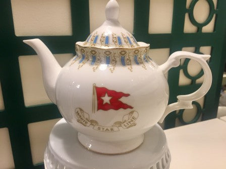 WHITE STAR LINE WISTERIA PATTERN TEA POT