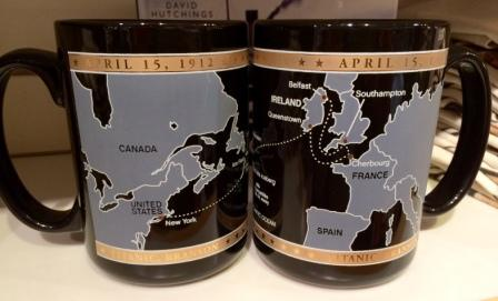 TITANIC ROUTE MAP MUG