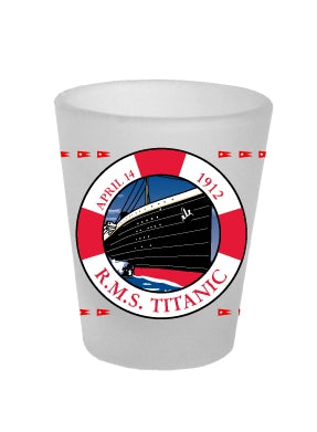 TITANIC LIFE PRESERVER SHOT GLASS