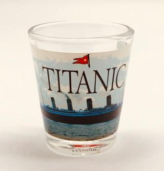TITANIC WRAP SHOT GLASS WITH BOTTOM LOGO