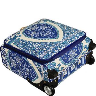 BLUE DESIGN UPRIGHT TRAVEL BAG