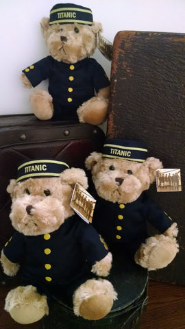 TITANIC PLUSH CUSTOM MADE BELL BOY BEAR