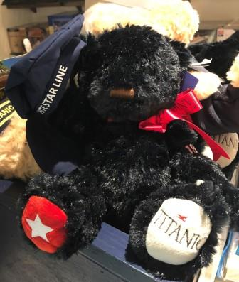 "OUR TITANIC BLACK BEAR IN MEMORY OF THE ""MOURNING"" BEAR MADE IN 1912"