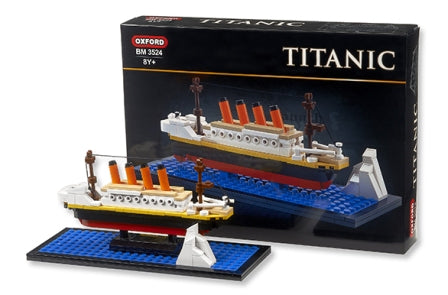 TITANIC SMALL BLOCK KIT WITH ICEBERG ,  INCLUDES 239 PIECES
