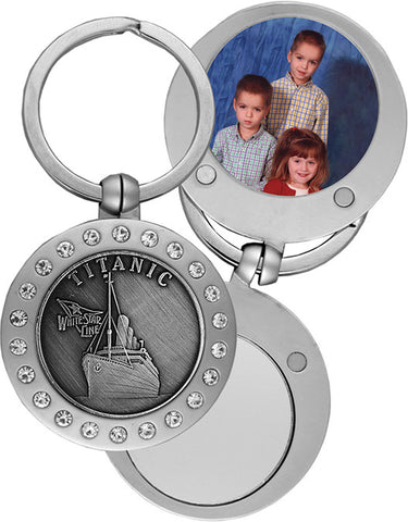 PEWTER KEY RING WITH PHOTO DESPLAY