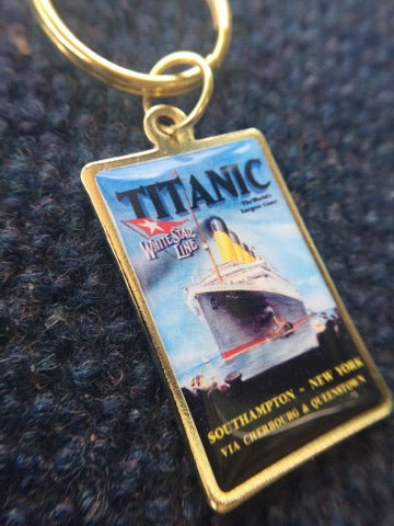 SHIP POSTER KEY RING