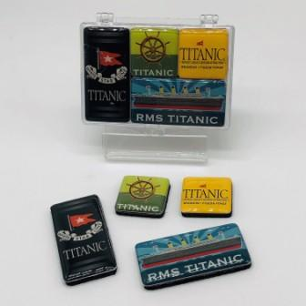 TITANIC ASSORTED 4 PIECE MAGNETS