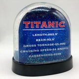TITANIC 2 SIDED WATER GLOBE
