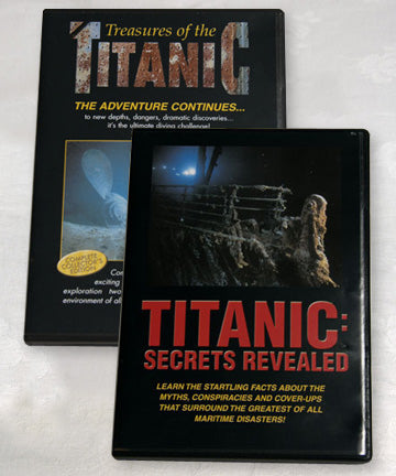 TITANIC SECRETS AND TREASURES  2 PACK DVD SET
