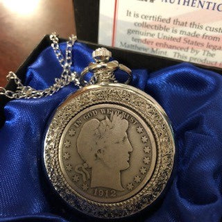 POCKET WATCH 1912 1/2 DOLLAR